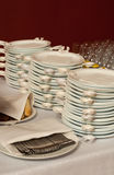 Catering plates royalty free stock photo