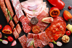 Catering platter with antipasto Royalty Free Stock Photo