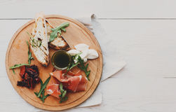 Catering Platter Antipasto With Prosciutto And Mozzarella Royalty Free Stock Images