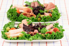 Catering platter food Royalty Free Stock Photo