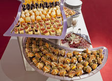 Catering platters Royalty Free Stock Photo
