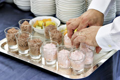 Catering preparation Stock Images