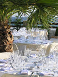 Catering reception. Catering setup, wedding reception Stock Images