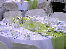Catering reception setup Royalty Free Stock Images