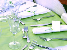 Catering reception setup Royalty Free Stock Photography