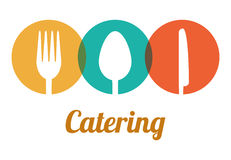Catering related icons emblem. Illustration design vector illustration