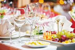 Catering restaurant event service. set table at party Royalty Free Stock Photo