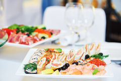 Catering restaurant event service. set table at party Stock Images