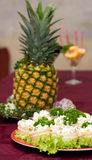 Catering - russian salad canape. Catering - russian salad in canape Stock Image