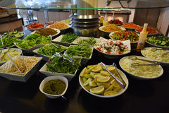Catering salad bar Stock Images