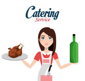 Catering service design Stock Photography