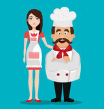 Catering service design Royalty Free Stock Image