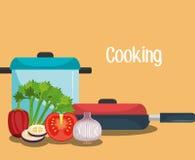 Catering service design Stock Photos