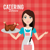 Catering service design Royalty Free Stock Photography