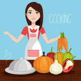 Catering service design Stock Image