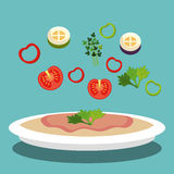 Catering service design Royalty Free Stock Images