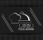 Catering service menu food icon Stock Photo