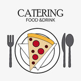 Catering service menu food icon Stock Image