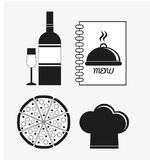 Catering service menu food icon Royalty Free Stock Photos