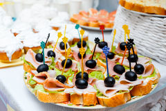 Catering service plate Royalty Free Stock Image