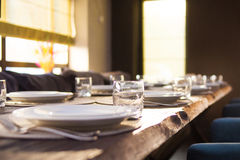 Catering service in restaurant Royalty Free Stock Image
