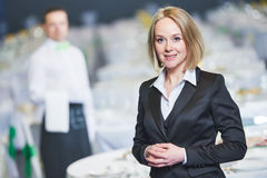 Catering service. Restaurant manager portrait Stock Images