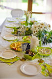 Catering service. Restaurant table with food. Huge amount of on the . Plates . Dinner time. Stock Images