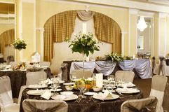 Catering service table decoration Royalty Free Stock Photos