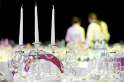 Catering service table decoration Stock Images