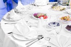 Catering service table decoration Stock Photo