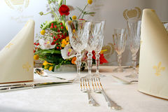 Catering set table Royalty Free Stock Photo
