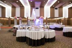 Catering setup, at wedding reception Stock Photo
