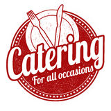 Catering stamp Royalty Free Stock Photos