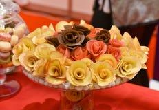Catering, sweet rose dessert Stock Photo