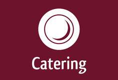 Catering Symbol. A catering vector sign and icon / plate royalty free illustration