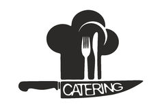 Catering symbol template Stock Photography