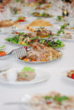 A catering table Royalty Free Stock Photo