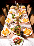 Catering table set service Stock Photo