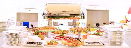 Catering table set service Stock Photography