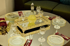 Catering table set Royalty Free Stock Photography