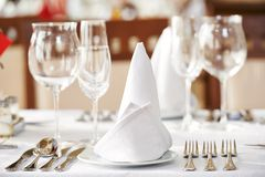 Catering table set Royalty Free Stock Images