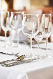 Catering table set Stock Image