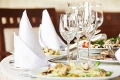 Catering table set Royalty Free Stock Image