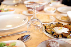 Catering table set Stock Photography