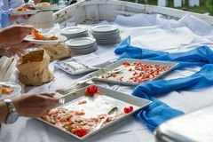 Catering. To a wedding in Italy Stock Image