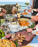 Catering. To a wedding in Italy Stock Photo