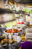 Catering Tray. On dining table Stock Image