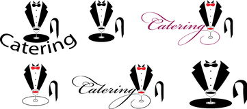 Catering. Vector illustration of the catering signs royalty free illustration