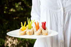 Catering vegetarian food Stock Photo