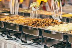 Catering wedding bride table. Party Royalty Free Stock Photo